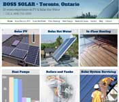 WordPress-based website for Boss Solar of Toronto